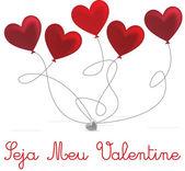 Portuguese Valentine's Day card design — Stockvektor