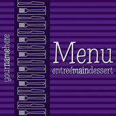 Retro inspired menu with a modern touch in vector format. — Stock Vector