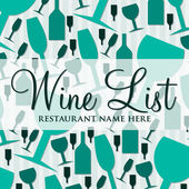 Modern wine list with a retro touch in vector format. — Stock Vector