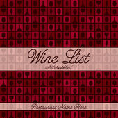 Retro inspired wine list with a modern touch in vector format. — Stock Vector