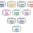 Passport stamps of major US airports in vector format. - Stock vektor