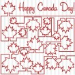 Happy Canada Day! - Stock Vector