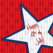 Vector de stock : Happy 4th of July!