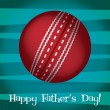 Royalty-Free Stock Vector Image: Bright cricket ball Happy Father's Day card in vector format.