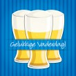 "Dutch ""Happy Father's Day"" beer card in vector format. — Stock Vector"