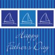 "Yacht ""Happy Father's Day"" card in vector format. — Stock Vector"
