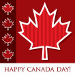 Happy Canada Day! — Stock Vector