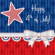 Vettoriale Stock : Happy 4th of July!