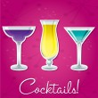 Bright retro cocktail card in vector format. — Stock Vector #10299536