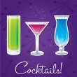 Royalty-Free Stock Vector Image: Bright retro cocktail card in vector format.