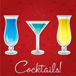Bright retro cocktail card in vector format. — Stock Vector #10299724