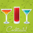 Stock Vector: Bright retro cocktail card in vector format.