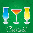Bright retro cocktail card in vector format. — Stock Vector #10299759