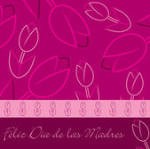 "Spanish ""Happy Mother's Day"" tulip card in vector format. — Stock Vector"