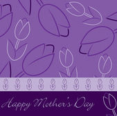 "Purple ""Happy Mother's Day"" tulip card in vector format. — Stock Vector"
