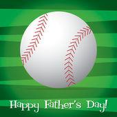 ベクター形式で明るい野球幸せな父の日カード. — ストックベクタ
