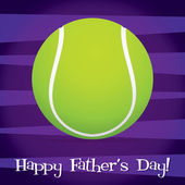 Bright tennis ball Happy Father's Day card in vector format. — Stock Vector