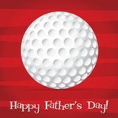 Bright golf ball Happy Father's Day card in vector format. — Stock Vector