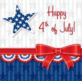 Feliz 4 de julio! — Vector de stock