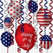 Happy 4th of July! — Imagen vectorial