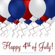 Happy 4th of July! — Stockvectorbeeld