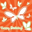 Butterfly birthday card in vector format. — Stock Vector