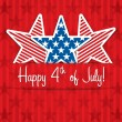Happy 4th of July! — Stok Vektör