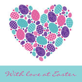 English 'With love at Easter' Card in vector format — Stock Vector