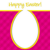 """Happy Easter"" bright egg card in vector format. — Stock Vector"