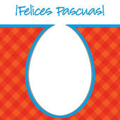 """Spanish """"Happy Easter"""" bright egg card in vector format. — Stock Vector"""