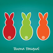 Italian Easter Bunny card in vector format. — Stock Vector