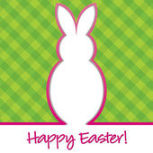 """""""Happy Easter"""" bright bunny cut out card in vector format. — Stock Vector"""