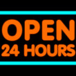 Open 24 Hours — Foto de Stock