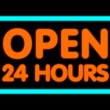 Open 24 Hours — Stock fotografie #8186568