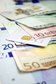 Euro bills & Credit Card 2 — Stock Photo