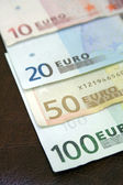 Euro bills on calendar — Stock Photo