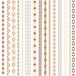 Royalty-Free Stock Vectorielle: Various motifs colored