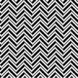 Zigzag pattern in black and white — Stock Vector