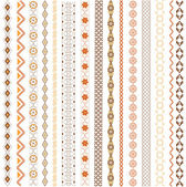 Various motifs colored — Stock Vector