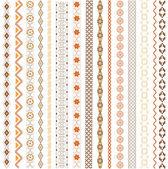 çeşitli motifler renkli — Stok Vektör