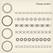 Vintage models — Stock Vector