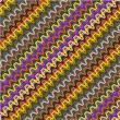 Pattern zig zag colorful - Stok Vektör