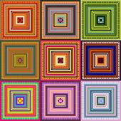 Halı - desen renkli — Stok Vektör