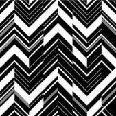 Mönster i sicksack - svart och vitt — Stockvektor