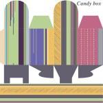 Шаблон для окно gift(candies) — Cтоковый вектор
