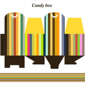Template gift box for candy — Stock Vector