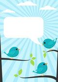 Blue birds — Stock Vector