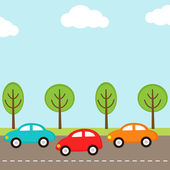 Cars background — Stock Vector