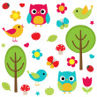 Nature set - Stock Vector