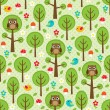 Forest seamless — Stock Vector